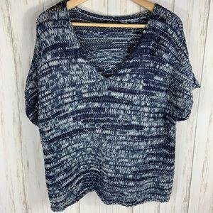 EILEEN FISHER Crochet Style Sweater Size XL